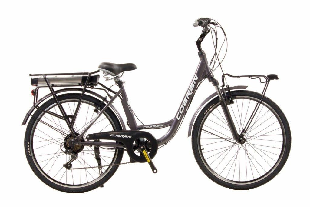 bici elettrica con forcella ammortizzata