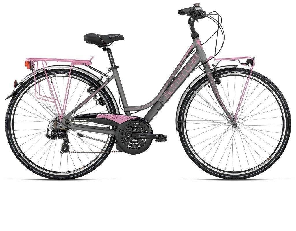 bicicletta da donna bottecchia 223 ty 500 21s lady antracite rosa