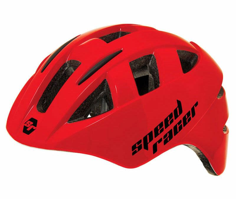 casco per bimbi rosso