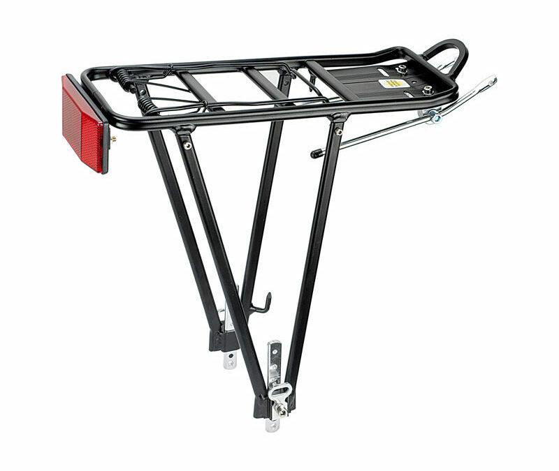 portapacco in alluminio per biciclette