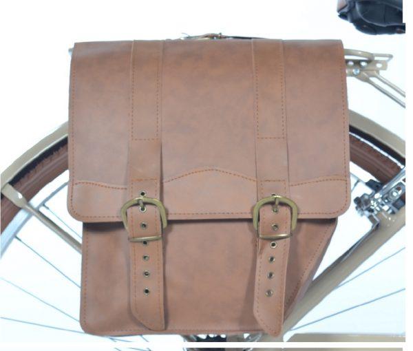 borsa in ecopelle per bicicletta