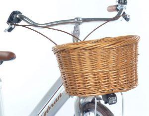 cestino per biciclette in vimini