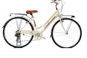 city bike da donna colore panna vintage