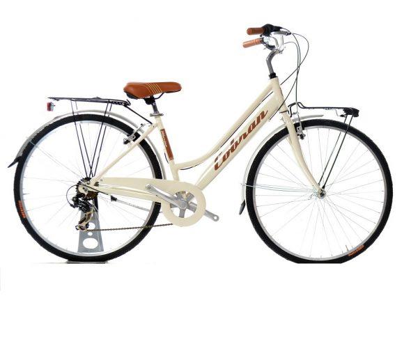 city bike da donna colore panna vintage