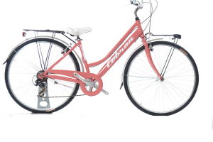 city bike vintage da donna colore rosa