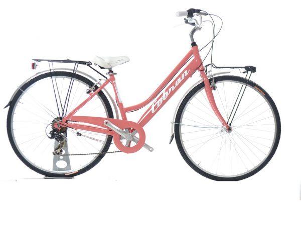 city bike vintage da donna colore rosa
