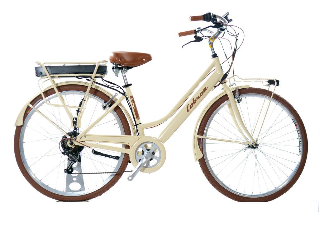 Bicicletta Elettrica Cobran Retrò Donna 21