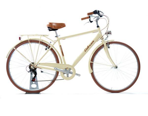 city bike retrò panna uomo